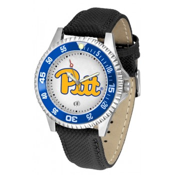 University Of Pittsurgh Panthers Mens Watch - Competitor Poly/Leather Band