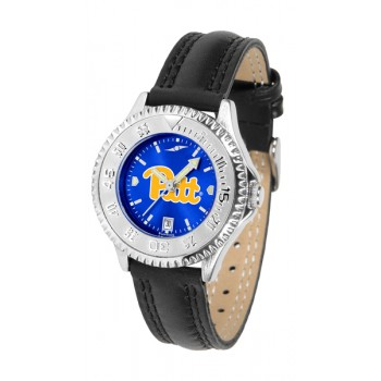 University Of Pittsurgh Panthers Ladies Watch - Competitor Anochrome Poly/Leather Band