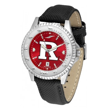 Rutgers Scarlett Knights Mens Watch - Competitor Anochrome Poly/Leather Band