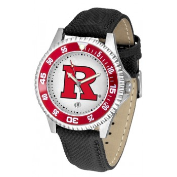 Rutgers Scarlett Knights Mens Watch - Competitor Poly/Leather Band