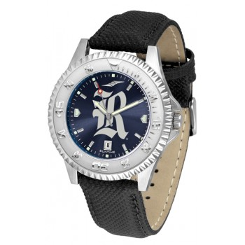 Rice University Owls Mens Watch - Competitor Anochrome Poly/Leather Band