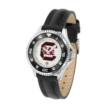 University Of South Carolina Gamecocks Ladies Watch - Competitor Poly/Leather Band