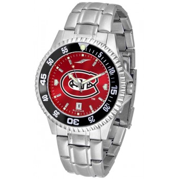 St. Cloud State University Huskies Mens Watch - Competitor Anochrome - Colored Bezel - Steel Band