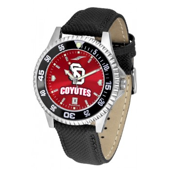 University Of South Dakota Coyotes Mens Watch - Competitor Anochrome Colored Bezel Poly/Leather Band