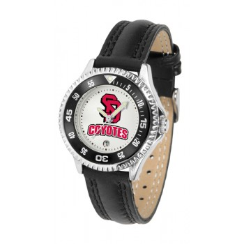 University Of South Dakota Coyotes Ladies Watch - Competitor Poly/Leather Band