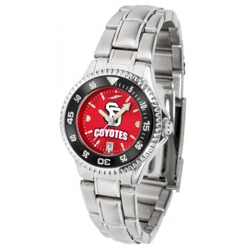 University Of South Dakota Coyotes Ladies Watch - Competitor Anochrome - Colored Bezel - Steel Band