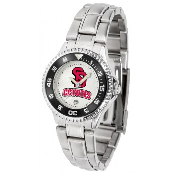 University Of South Dakota Coyotes Ladies Watch - Competitor Steel Band