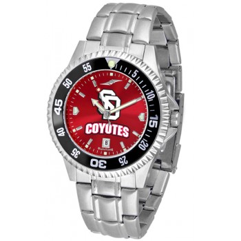 University Of South Dakota Coyotes Mens Watch - Competitor Anochrome - Colored Bezel - Steel Band