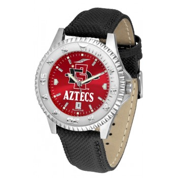 San Diego State University Aztecs Mens Watch - Competitor Anochrome Poly/Leather Band