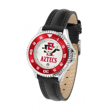 San Diego State University Aztecs Ladies Watch - Competitor Poly/Leather Band
