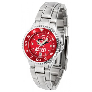 San Diego State University Aztecs Ladies Watch - Competitor Anochrome - Colored Bezel - Steel Band