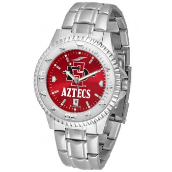 San Diego State University Aztecs Mens Watch - Competitor Anochrome Steel Band