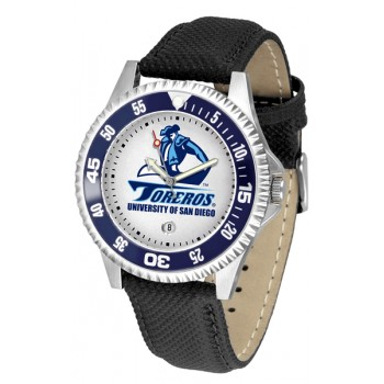 University Of San Diego Toreros Mens Watch - Competitor Poly/Leather Band