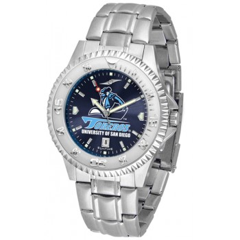 University Of San Diego Toreros Mens Watch - Competitor Anochrome Steel Band