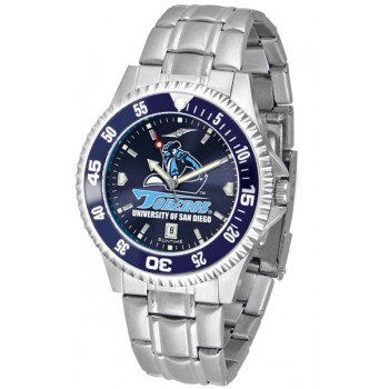 University Of San Diego Toreros Mens Watch - Competitor Anochrome - Colored Bezel - Steel Band