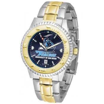 University Of San Diego Toreros Mens Watch - Competitor Anochrome Two-Tone
