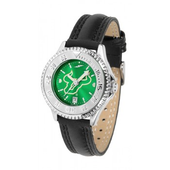University Of South Florida Bulls Ladies Watch - Competitor Anochrome Poly/Leather Band