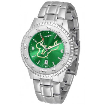 University Of South Florida Bulls Mens Watch - Competitor Anochrome Steel Band