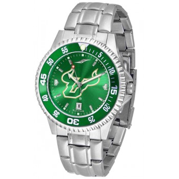 University Of South Florida Bulls Mens Watch - Competitor Anochrome - Colored Bezel - Steel Band