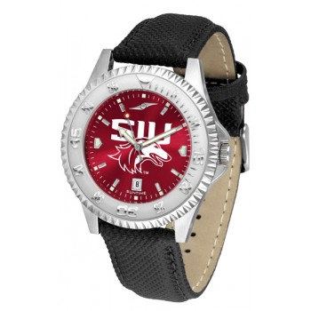 Southern Illinois University Salukis Mens Watch - Competitor Anochrome Poly/Leather Band