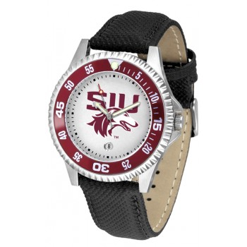 Southern Illinois University Salukis Mens Watch - Competitor Poly/Leather Band