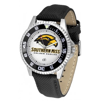 University Of Southern Mississippi Eagles Mens Watch - Competitor Poly/Leather Band