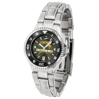 University Of Southern Mississippi Eagles Ladies Watch - Competitor Anochrome - Colored Bezel - Steel Band