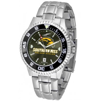 University Of Southern Mississippi Eagles Mens Watch - Competitor Anochrome - Colored Bezel - Steel Band