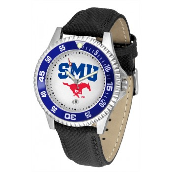 Southern Methodist University Mustangs Mens Watch - Competitor Poly/Leather Band