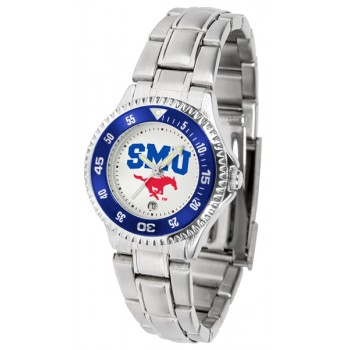 Southern Methodist University Mustangs Ladies Watch - Competitor Steel Band
