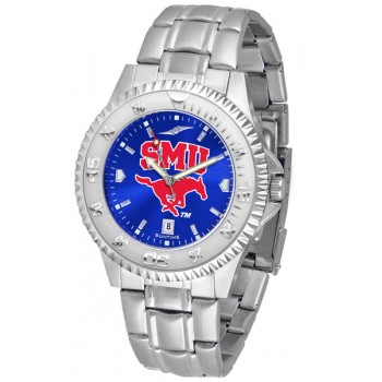 Southern Methodist University Mustangs Mens Watch - Competitor Anochrome Steel Band