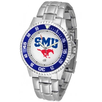 Southern Methodist University Mustangs Mens Watch - Competitor Steel Band