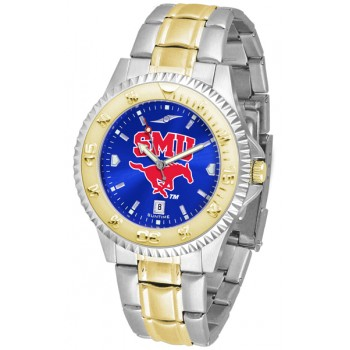 Southern Methodist University Mustangs Mens Watch - Competitor Anochrome Two-Tone