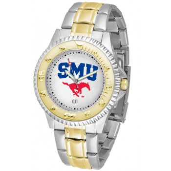 Southern Methodist University Mustangs Mens Watch - Competitor Two-Tone