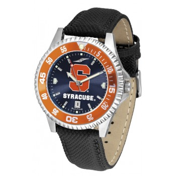 Syracuse University Orange Mens Watch - Competitor Anochrome Colored Bezel Poly/Leather Band