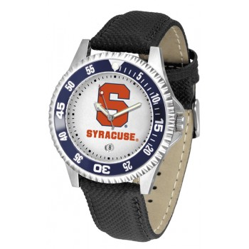 Syracuse University Orange Mens Watch - Competitor Poly/Leather Band