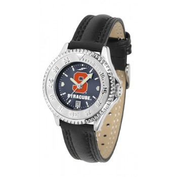 Syracuse University Orange Ladies Watch - Competitor Anochrome Poly/Leather Band