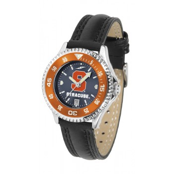 Syracuse University Orange Ladies Watch - Competitor Anochrome Colored Bezel Poly/Leather Band