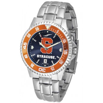 Syracuse University Orange Mens Watch - Competitor Anochrome - Colored Bezel - Steel Band