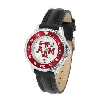 Texas A&M University Aggies Ladies Watch - Competitor Poly/Leather Band