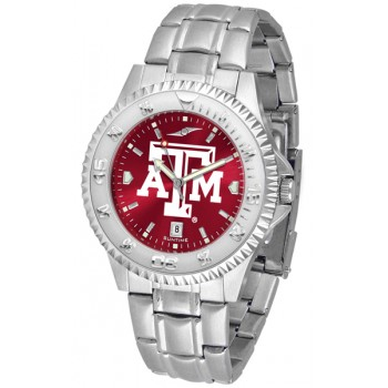 Texas A&M University Aggies Mens Watch - Competitor Anochrome Steel Band