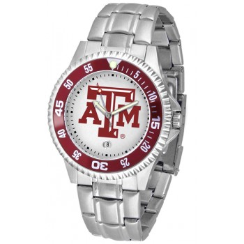 Texas A&M University Aggies Mens Watch - Competitor Steel Band