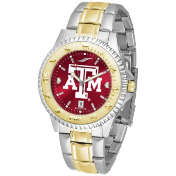Texas A&M University Aggies Mens Watch - Competitor Anochrome Two-Tone