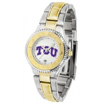 Texas Christian University Horned Frogs Ladies Watch - Competitor Two-Tone
