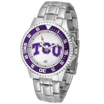 Texas Christian University Horned Frogs Mens Watch - Competitor Steel Band