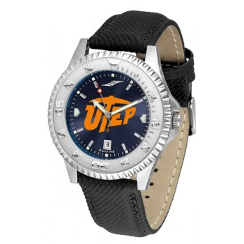 University Of Texas El Paso Mens Watch - Competitor Anochrome Poly/Leather Band