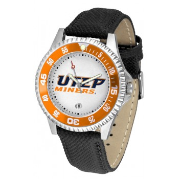 University Of Texas El Paso Mens Watch - Competitor Poly/Leather Band