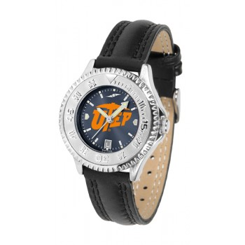 University Of Texas El Paso Ladies Watch - Competitor Anochrome Poly/Leather Band