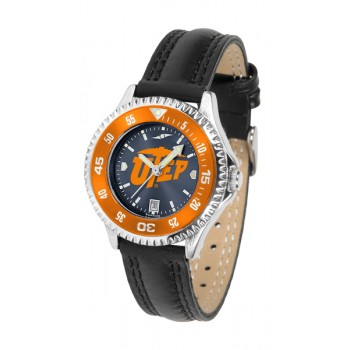 University Of Texas El Paso Ladies Watch - Competitor Anochrome Colored Bezel Poly/Leather Band