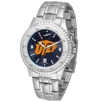 University Of Texas El Paso Mens Watch - Competitor Anochrome Steel Band